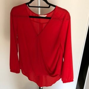 Lush red blouse